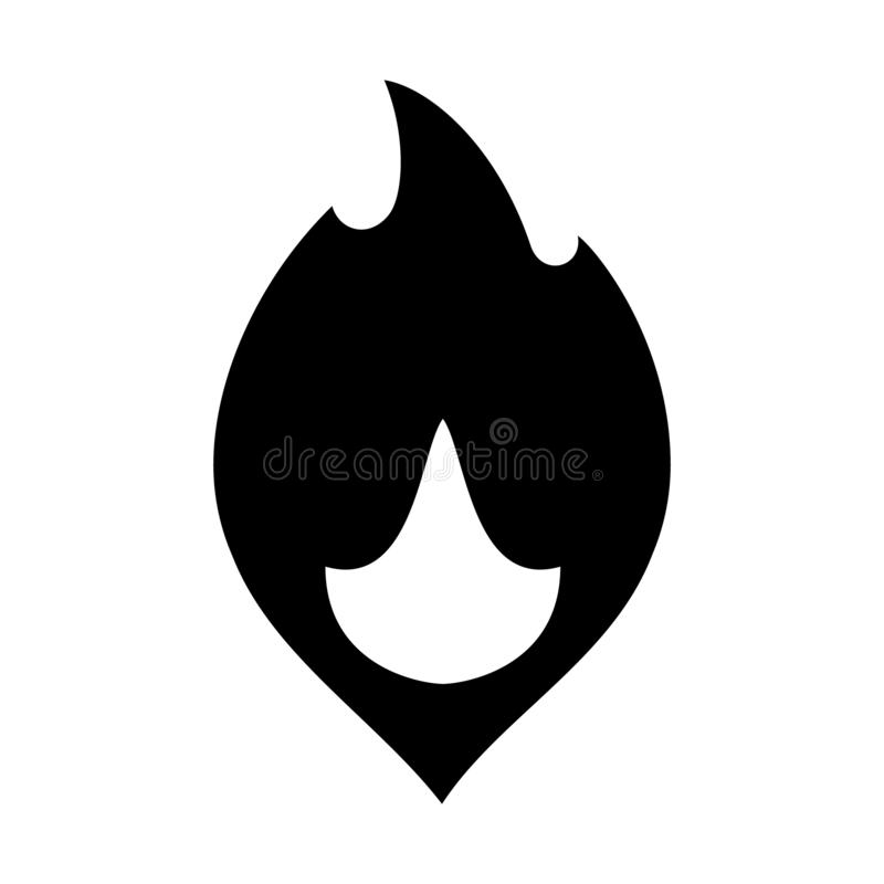Fire flames, new black icon vector illustration vector illustration