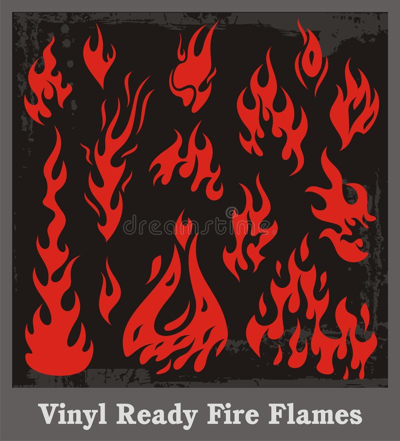 Free Fire Flames Set Royalty Free Stock Photography - 20165557