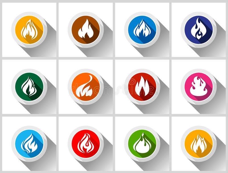 Fire flames royalty free illustration