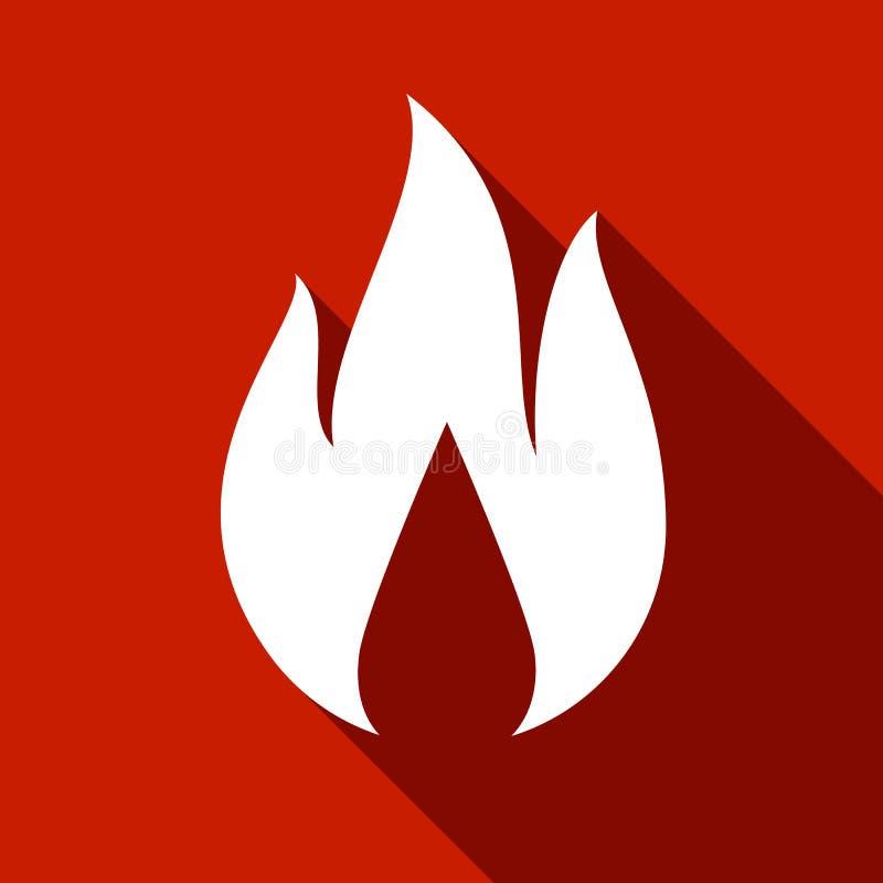 Fire flames, set stock illustration