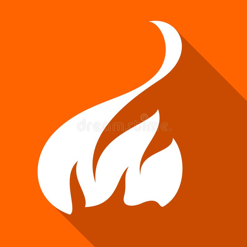 Fire flames, set royalty free illustration
