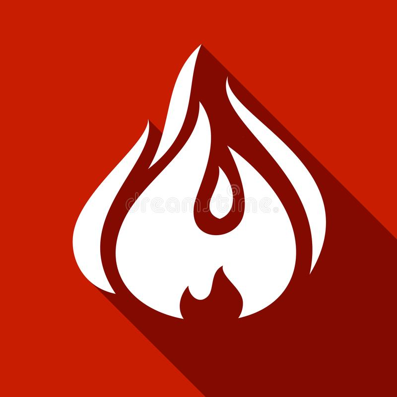 Fire flames, set vector illustration