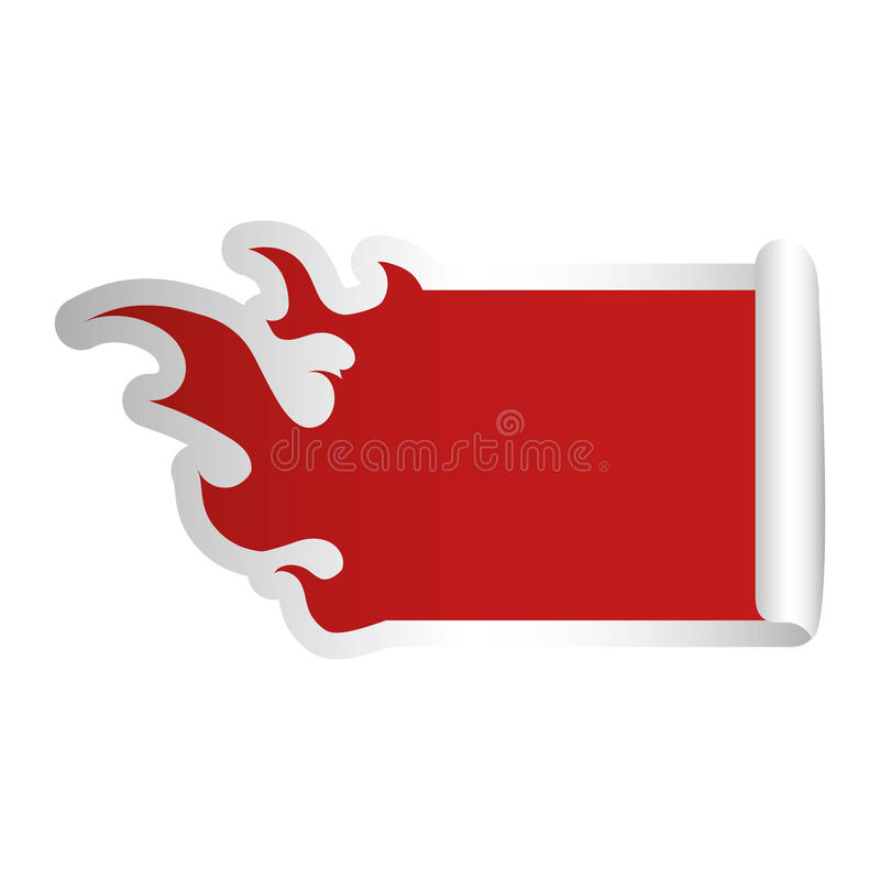 fire flames shape blank red emblem icon image vector illustration