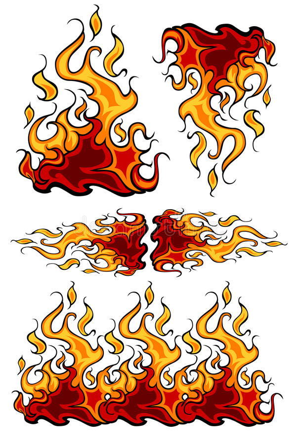 Fire and Flames Vector Icons. Vector Images of Fire and Flames Images stock illustration