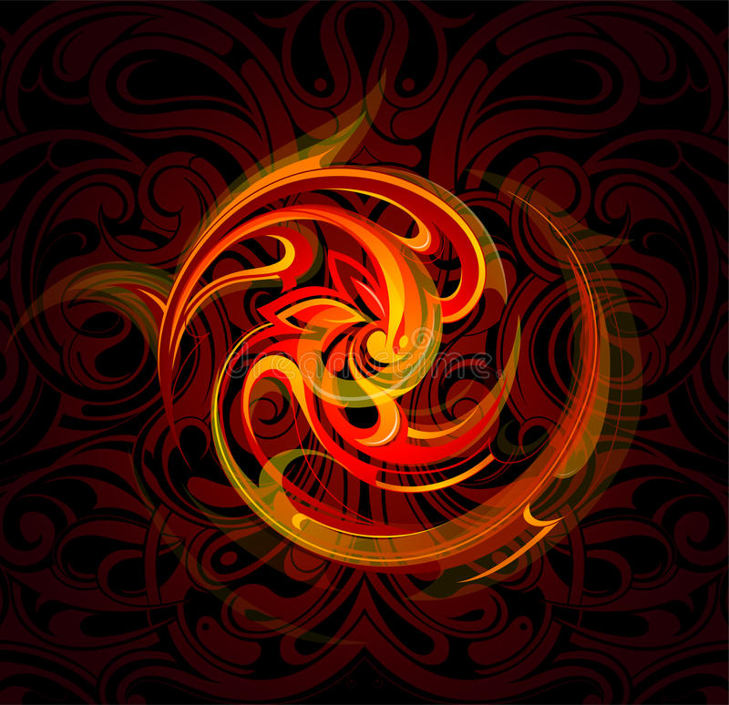 Fire flames. Vector illustration with decorative fire flames. EPS-10 vector illustration