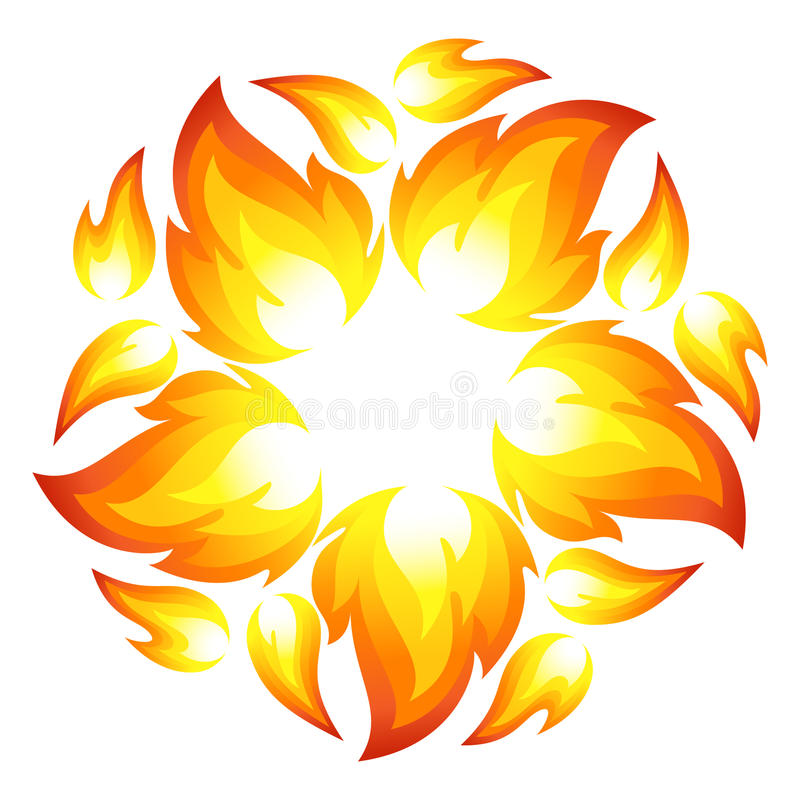 Download Fire flower stock vector. Image of fire, campfire, heat - 26199185