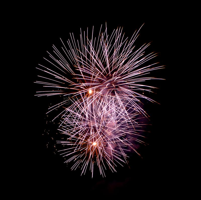 Fire Flowers - Ignis Brunensis 2018 - Fireworks royalty free stock photo