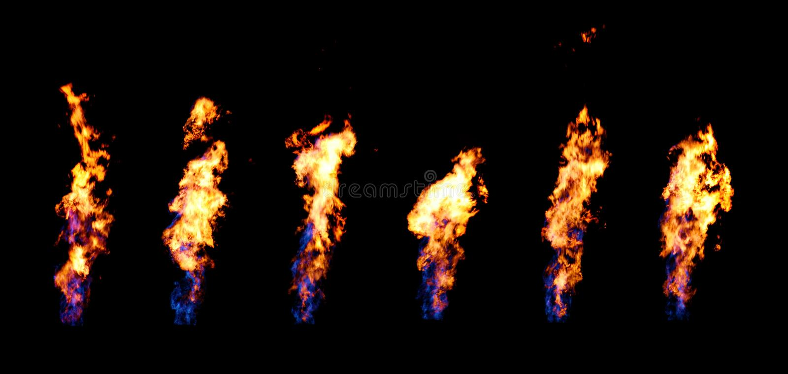 Fire Flumes stock photo
