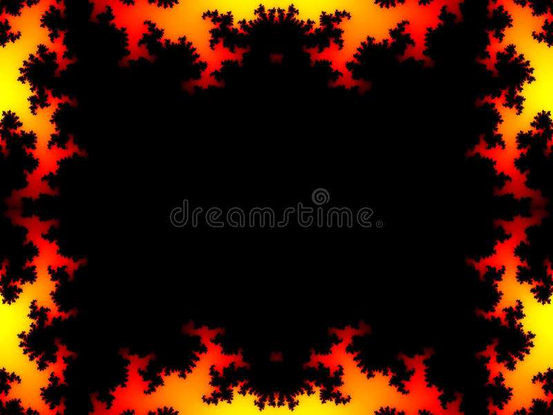 Fire Fractal Frame Royalty Free Stock Photo