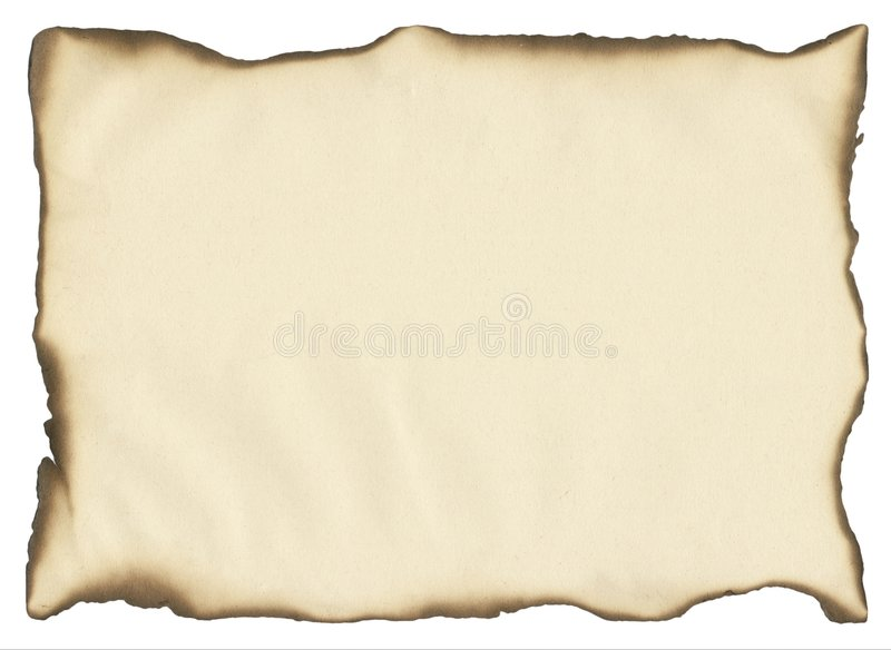 Fire frame. A piece of paper good for a background stock images