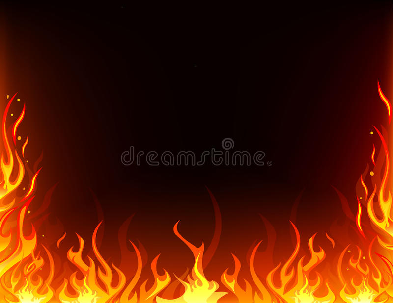 Fire frame royalty free illustration