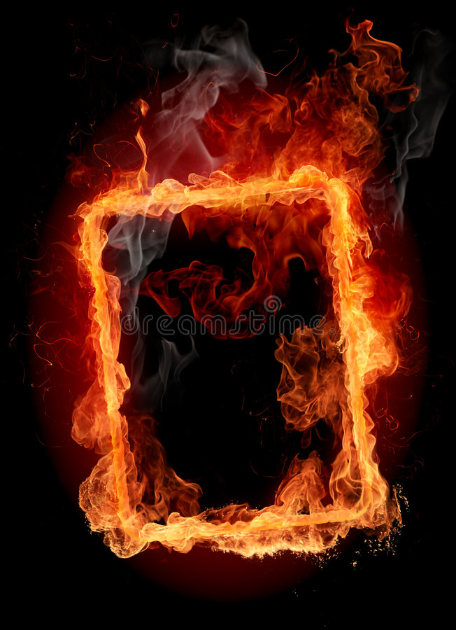 Fire frame. Abstract fiery background
