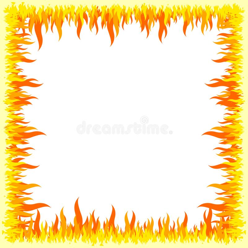 Free Fire Frame - White Background Royalty Free Stock Photography - 183464137
