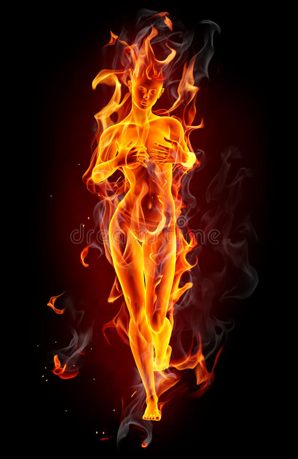 Download Fire girl stock illustration. Image of fiery, halloween - 21409171