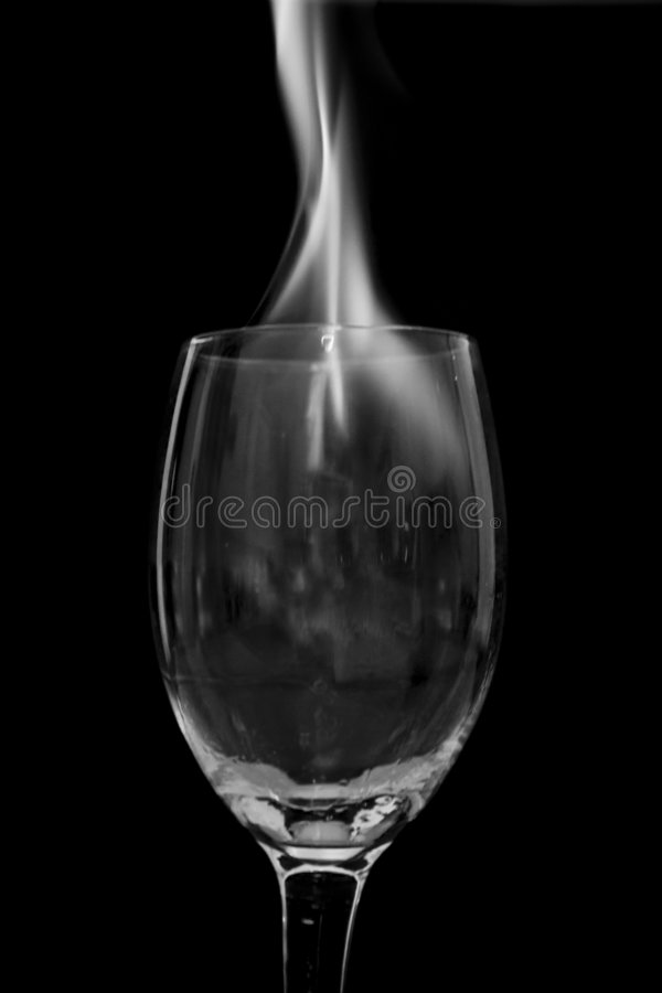 Fire In Glass Royalty Free Stock Photography