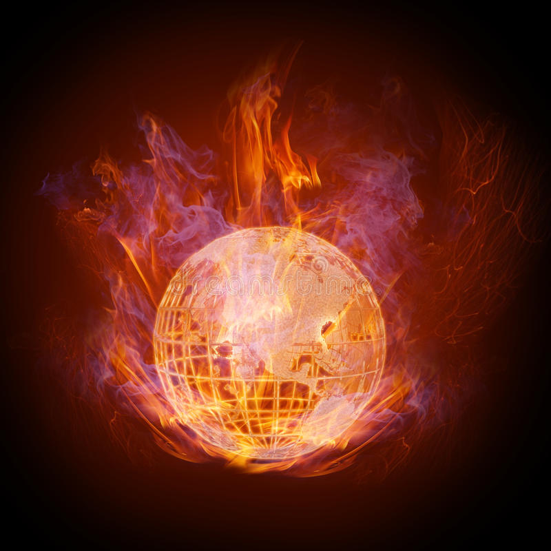 Fire globe royalty free illustration