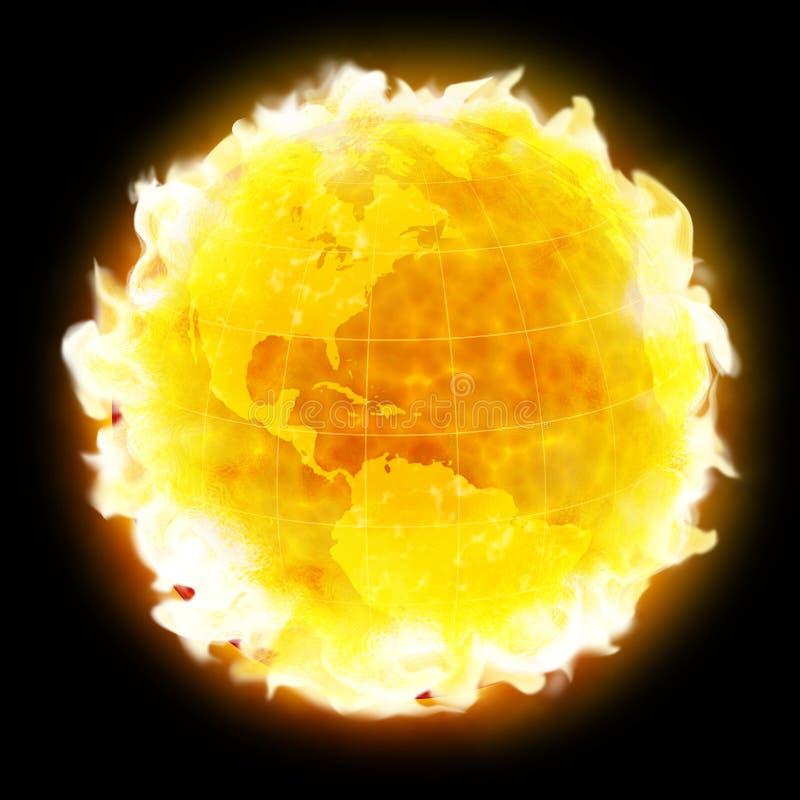 Download Global Warming Fire Planet Earth Stock Illustration - Illustration: 5985772