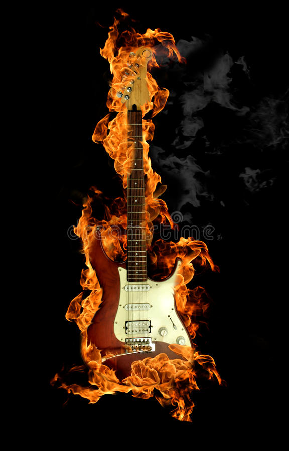 Download Fire guitar stock image. Image of guitar, concept, fiery - 16191583