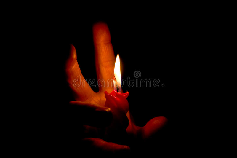 Fire hands II royalty free stock images