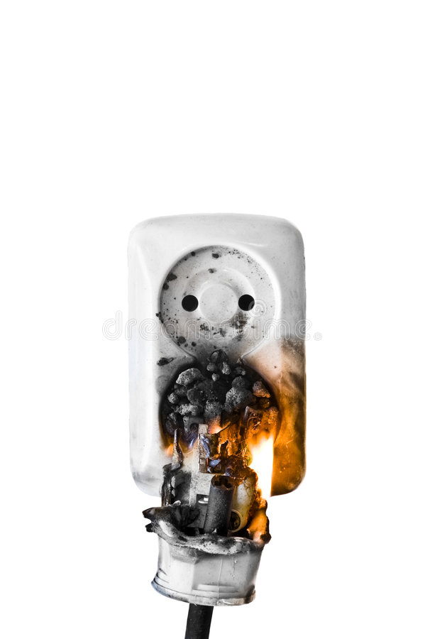 Fire hazzard stock images