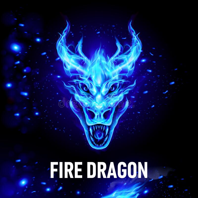 Free Fire Head Of Dragon Royalty Free Stock Photo - 194028725