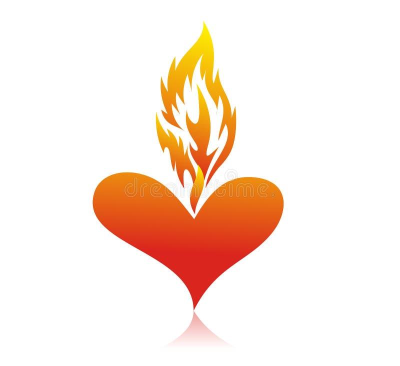 Free Fire Heart Royalty Free Stock Photos - 12872698