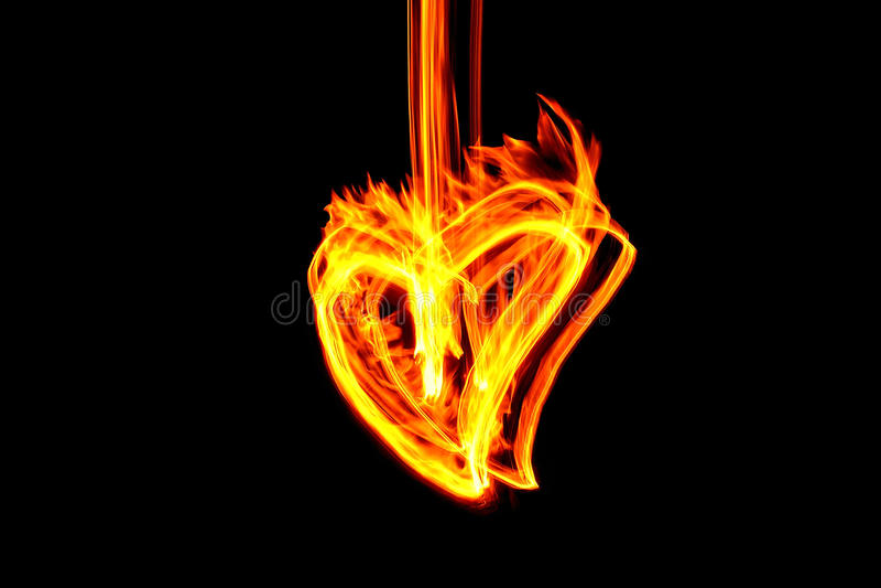 Fire Heart Royalty Free Stock Photos