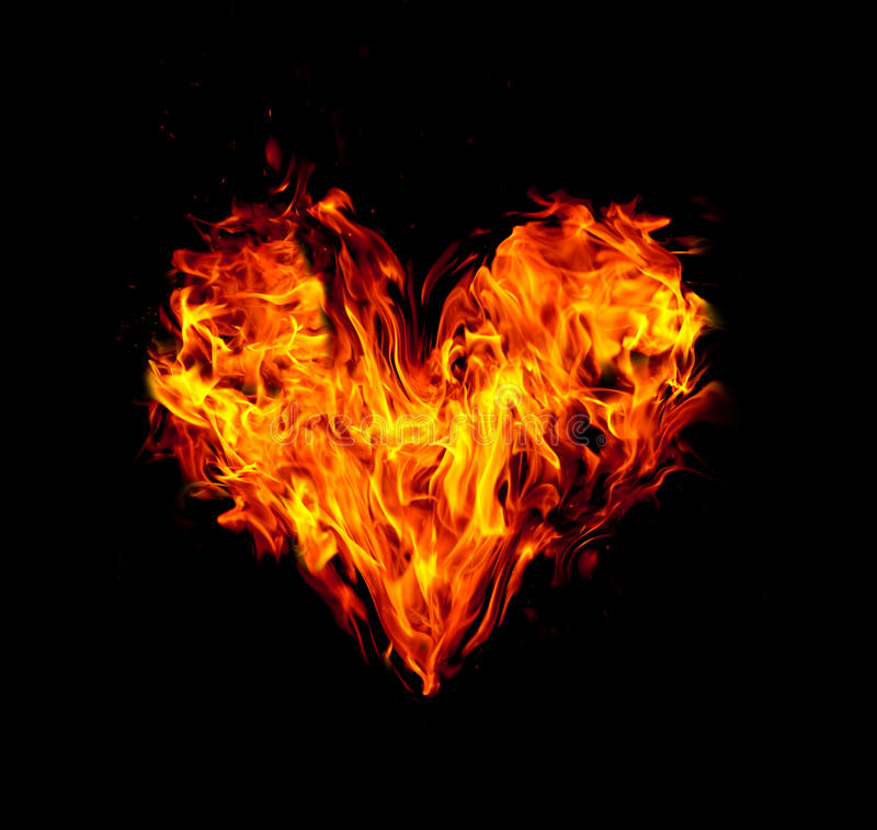 Fire heart royalty free illustration