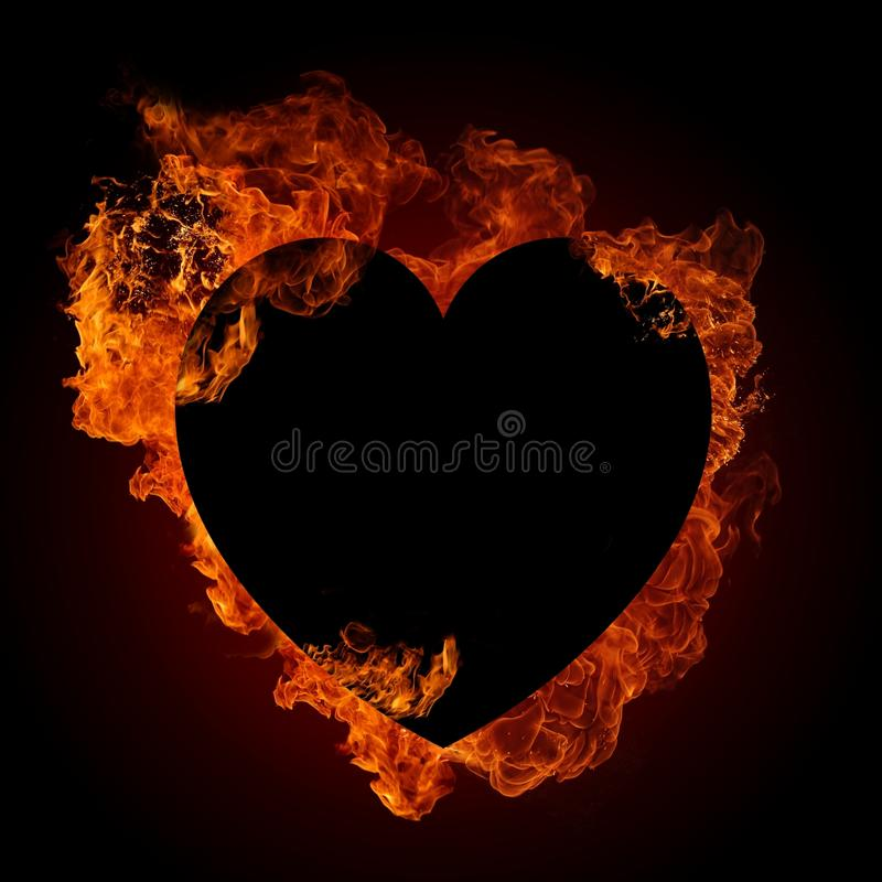 Download Fire heart stock illustration. Image of ardent, decoration - 25462387