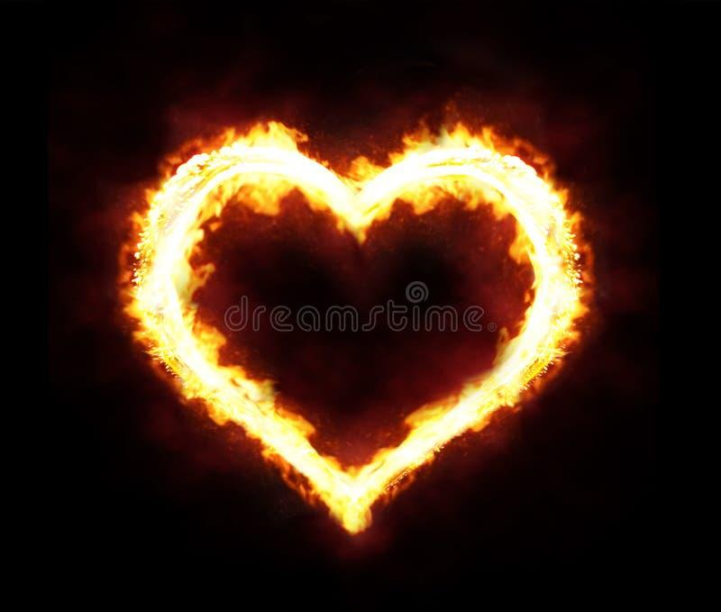 Fire heart vector illustration