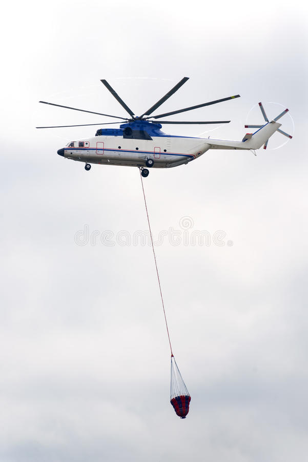 Fire helicopter royalty free stock photo