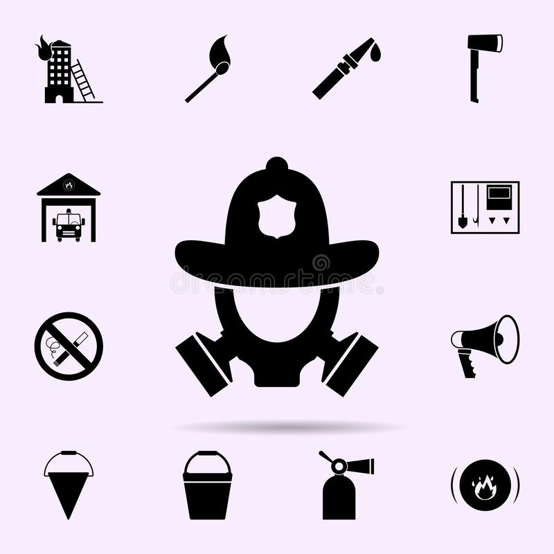 fire helmet and gas mask icon. Fireman icons universal set for web and mobile vector illustration