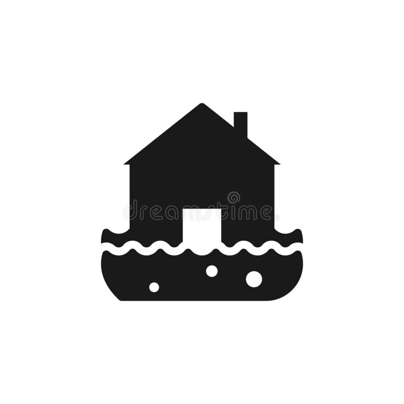 Fire, home, house, insurance, flood water icon - Vector. Insurance concept vector illustration. royalty free illustration