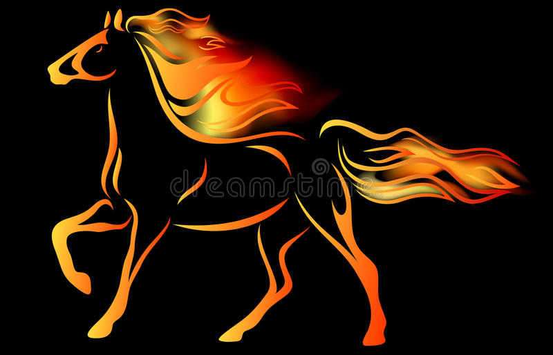 Download Fire horse vector stock vector. Illustration of clip - 23730534