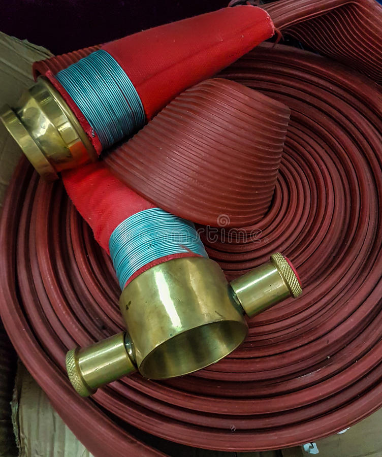 Fire hose cable royalty free stock images