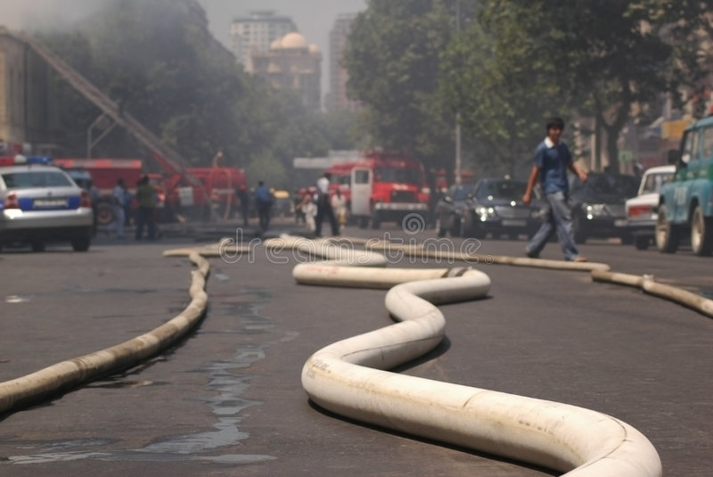 Download Fire hoses stretching stock photo. Image of boom, catastrophe - 1246736