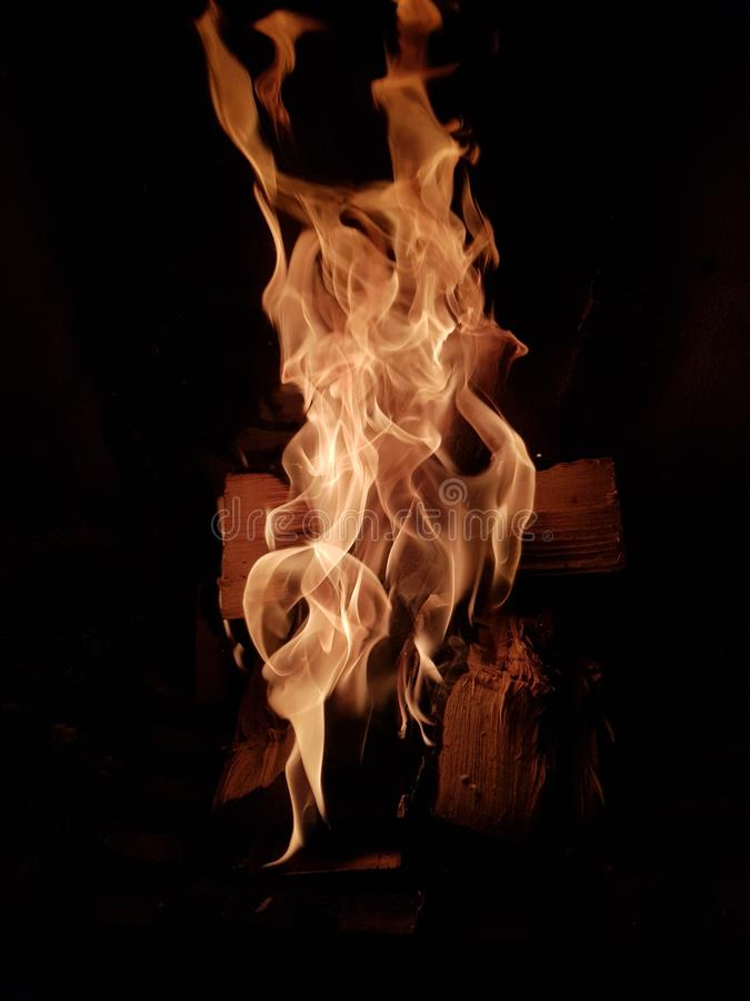 The fire on. Fire hotel hell  deep warm winter royalty free stock photos