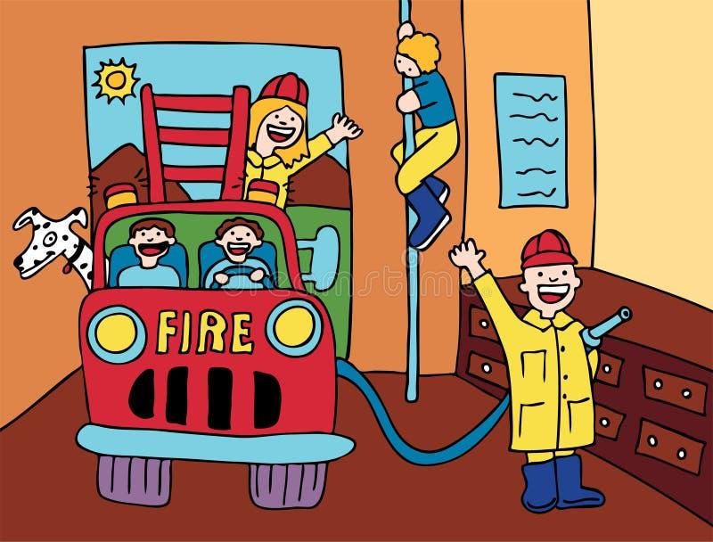 Fire House vector illustration