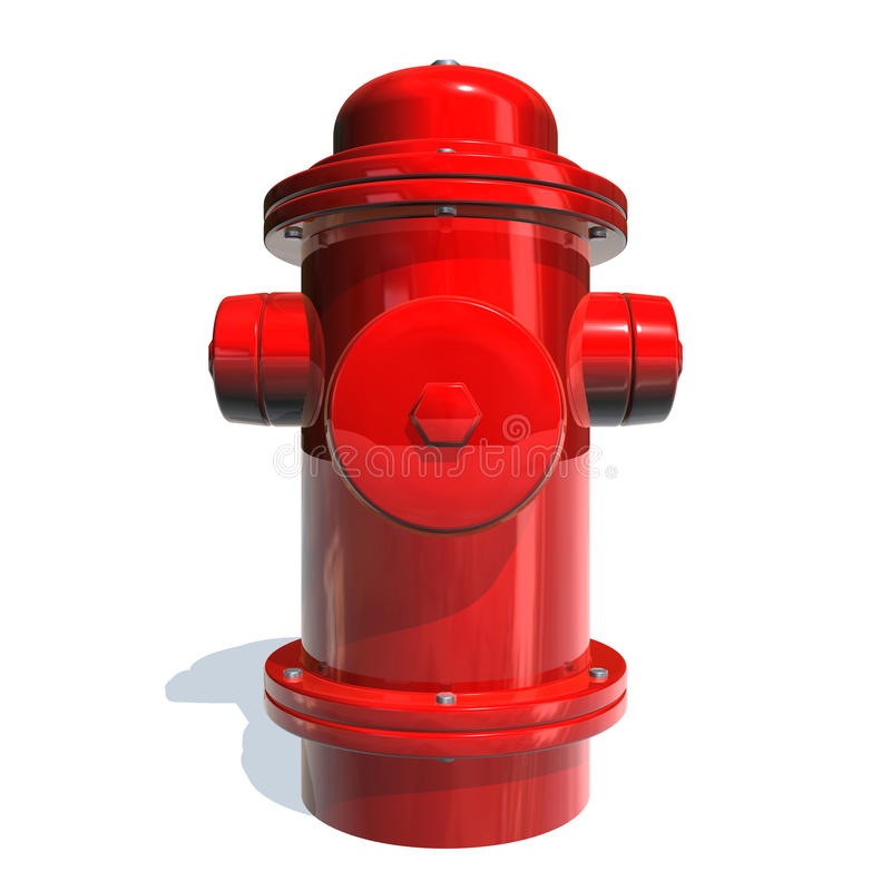 Fire hydrant. 3d image with a red fire hydrant stock illustration