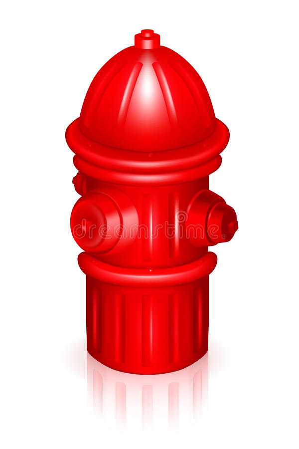 Fire Hydrant. Illustration isolated on white stock illustration