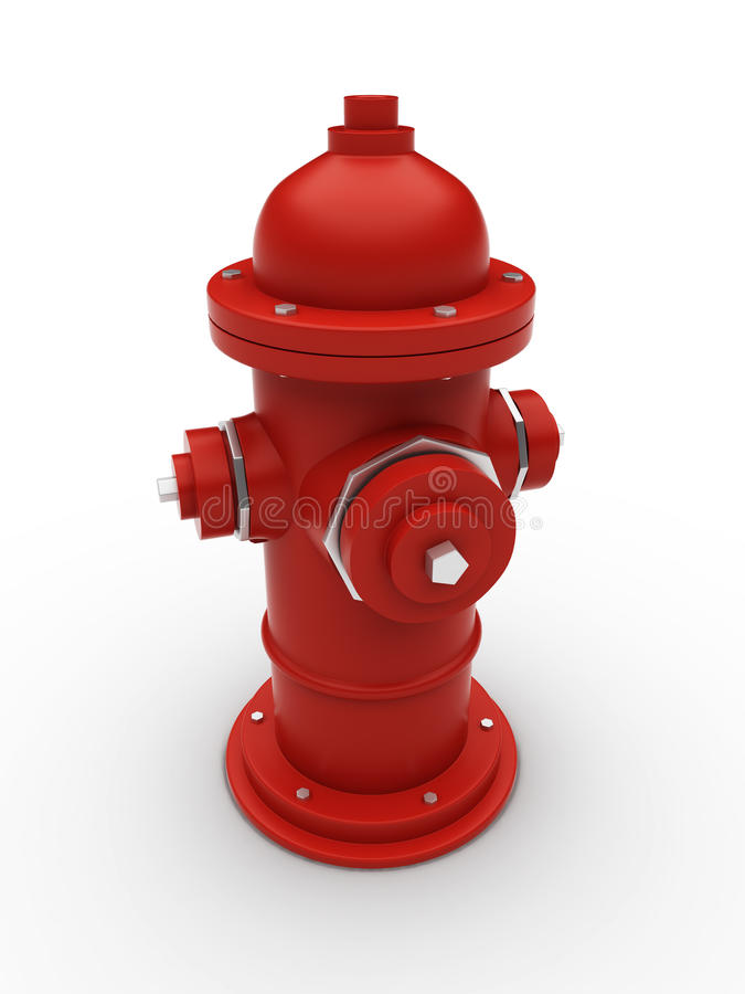 Fire hydrant. With chrome elements vector illustration