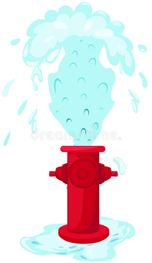 Fire hydrant. Illustration of isolated fire hydrant with shower vector illustration