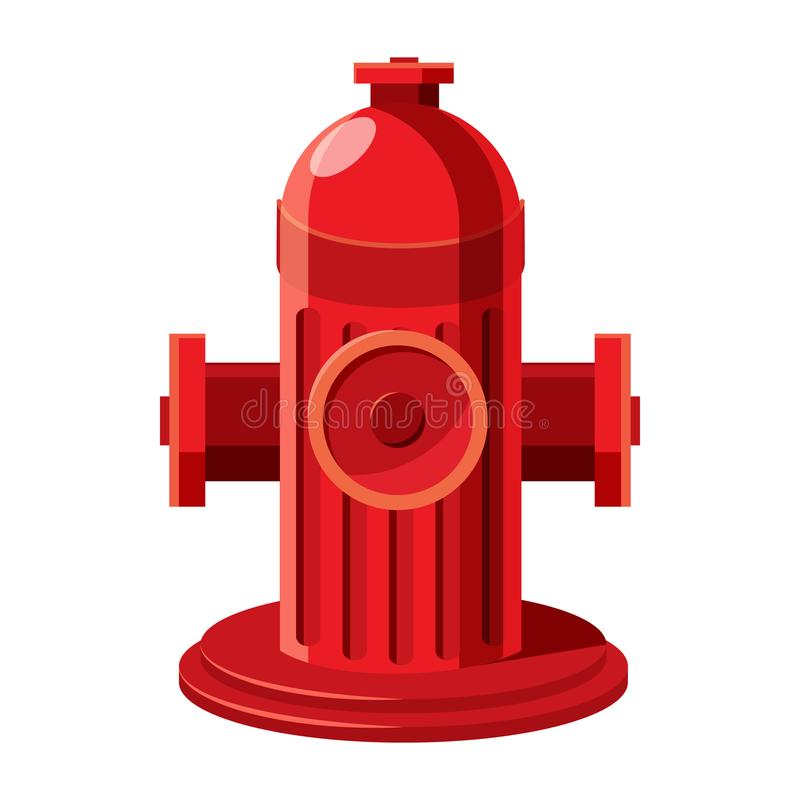 Fire hydrant icon in cartoon style. On a white background royalty free illustration