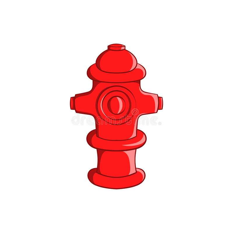 Fire hydrant icon, cartoon style. Fire hydrant icon in cartoon style isolated on white background. Equipment symbol vector illustration