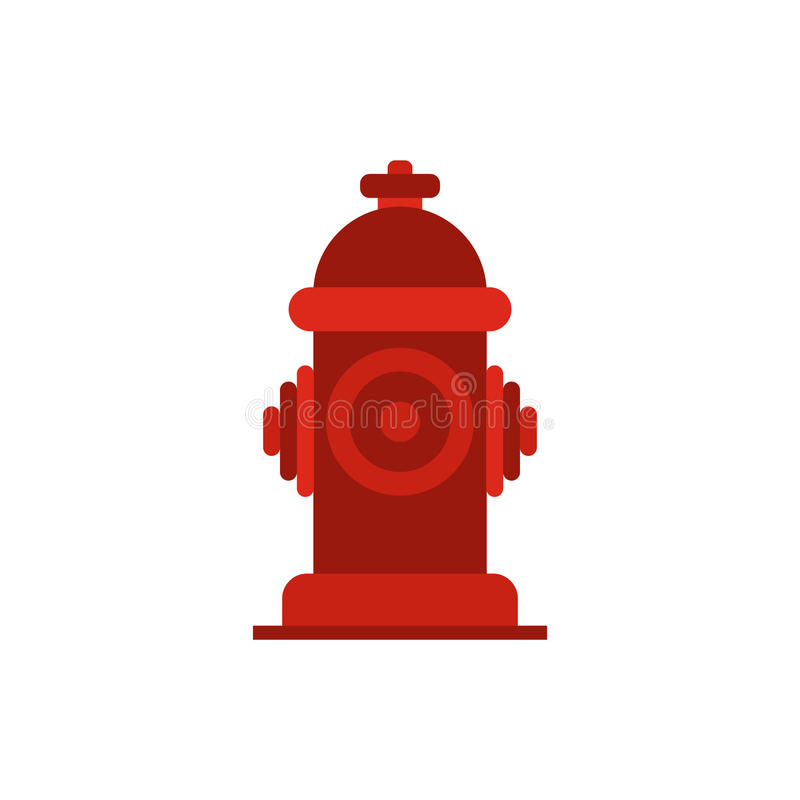 Fire hydrant icon. In flat style on white background royalty free illustration