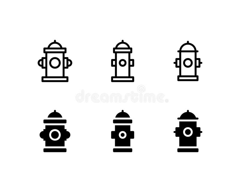 Fire Hydrant Icon Logo Vector Symbol. Firefighter Icon Isolated on White Background vector illustration