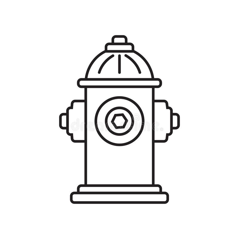 Free Fire Hydrant Icon. Vector Illustration Royalty Free Stock Photography - 140614147