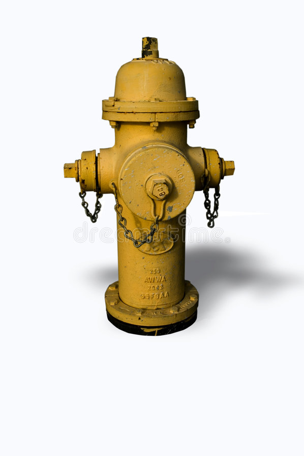 fire hydrant isolated στοκ εικόνα