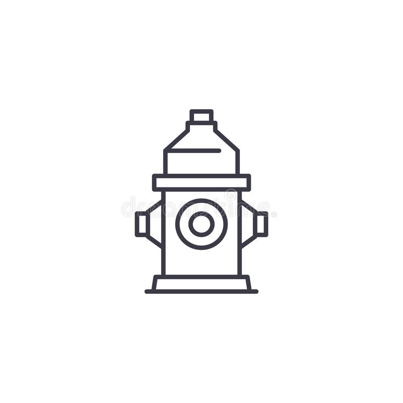 Fire hydrant linear icon concept. Fire hydrant line vector sign, symbol, illustration. royalty free illustration