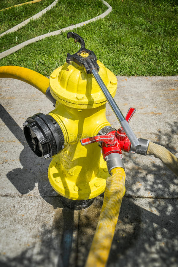 Download FIre Hydrant in Use stock image. Image of grass, fire - 38356843